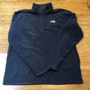 The North Face navy fleece pullover. Men's Medium
